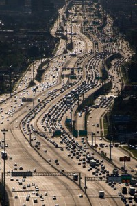 The Katy Freeway in west Houston, widest freeway in the world.