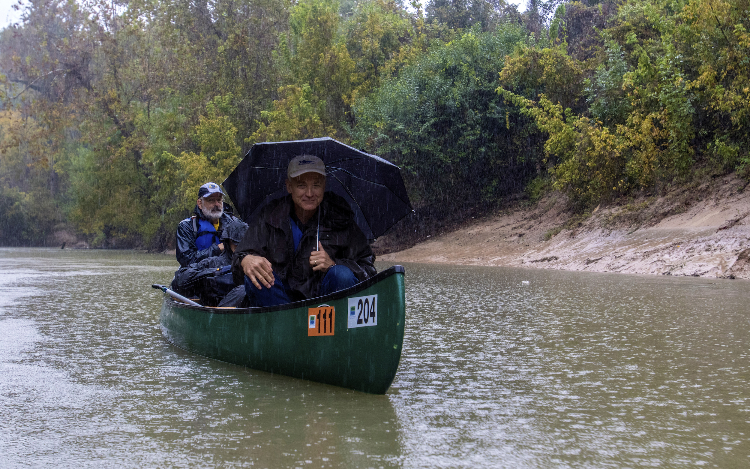 Professor Mathias Kondolf on Buffalo Bayou, Friday, Nov. 21, 2014. Photo by Jim Olive.