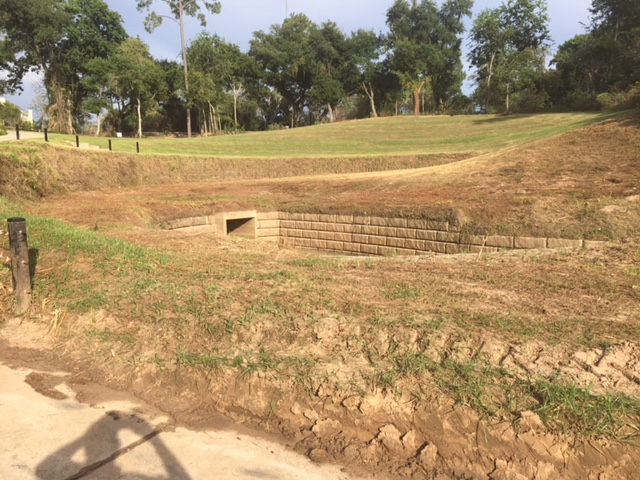 Woodway drainage outfall/boat launch in Memorial Park after cutting. Photo Sept. 24, 2016, by Bill Heins.