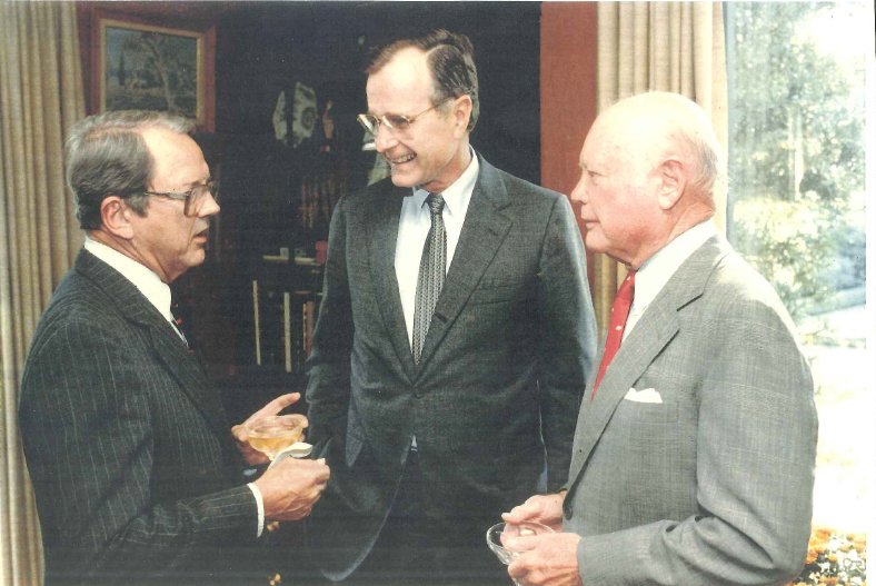 Frank Smith Jr., Rep. George H.W. Bush, and Albert Fay in 1966.
