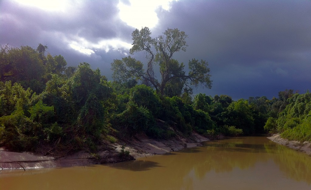 Storm approaching on Buffalo Bayou in Memorial Park. October 2014. Photo Susan Chadwick