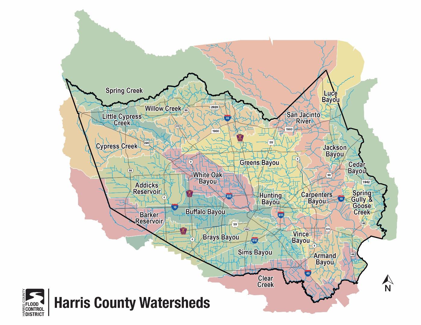 Watershed Maps | Save Buffalo Bayou